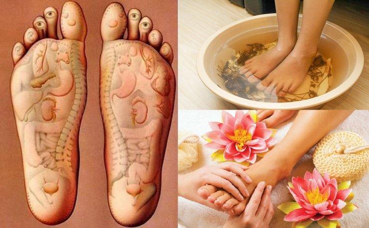 Kết quả hình ảnh cho cách pha nước ngâm chân