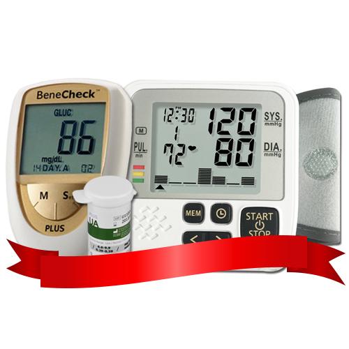 Combo máy đo Acid Uric Benecheck Plus - máy đo huyết áp cổ tay DK39+