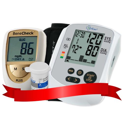 Combo Máy đo đường huyết Benecheck Plus - Máy đo huyết áp DK79
