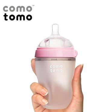 Bình sữa Silicone Comotomo 250ml – màu hồng