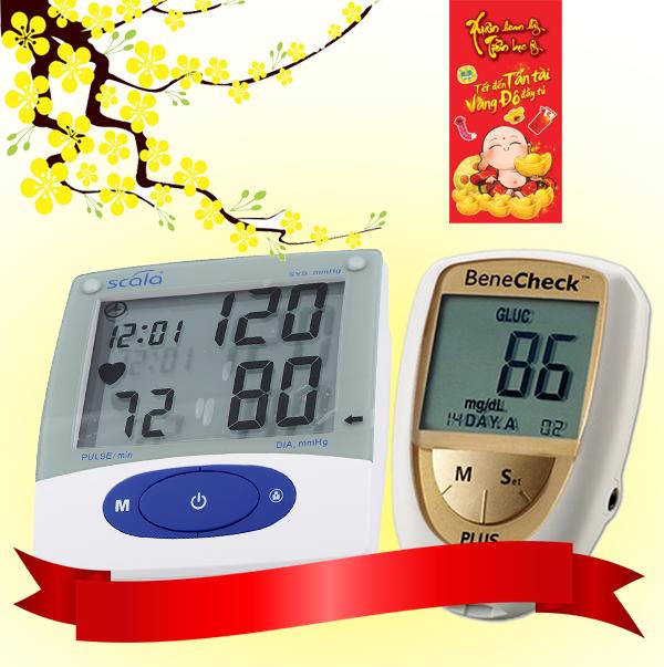 Combo mua Máy đo đa năng Benecheck Plus tặng Máy đo huyết áp KP-6925