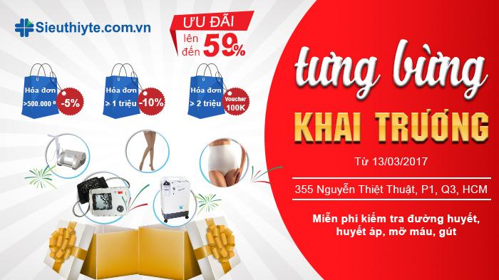 Tưng bừng khai trương của hàng mới của Siêu Thị Y Tế Hùng Hy tại quận 3 Tp HCM