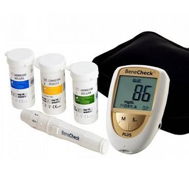 Combo Máy đo đường huyết BeneCheck 3in1 & Máy đo huyết áp bắp tay DK79 Plus