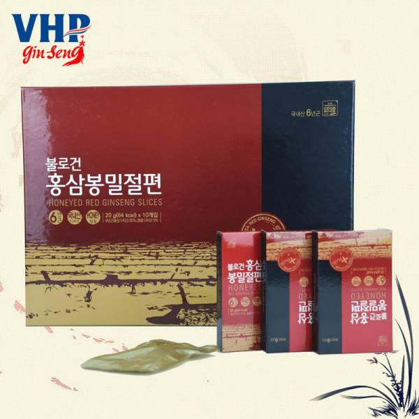 Hồng sâm lát tẩm mật ong Hàn Quốc 10 hộp x 20gr