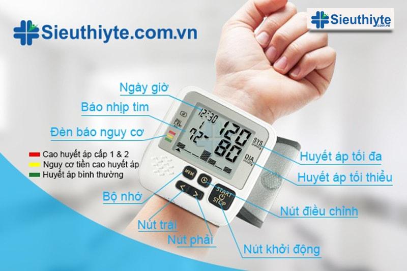Máy đo huyết áp điện tử cổ tay MediKare – DK39 Plus