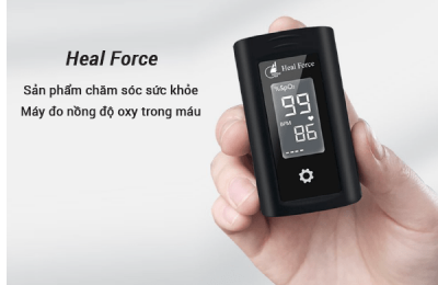 May do nong do oxy trong mau SpO2 Heal Force Prince 100A
