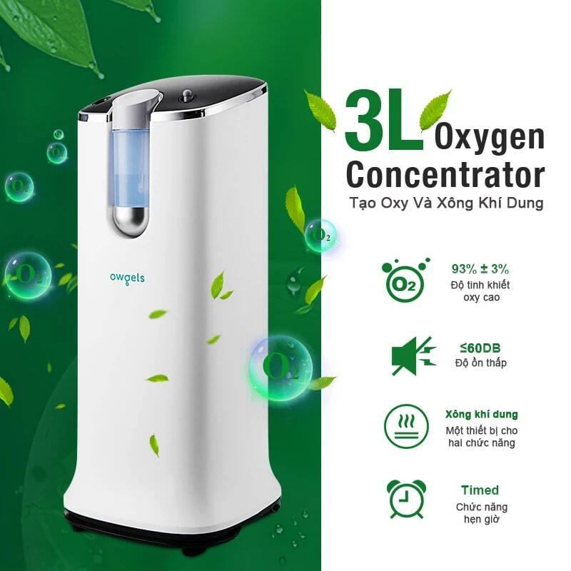 Máy tạo oxy 3 lít Owgels OZ-3-08GWO được trang bị hệ thống báo động nếu phát hiện thiếu oxy, áp suất bất thường hoặc mất điện