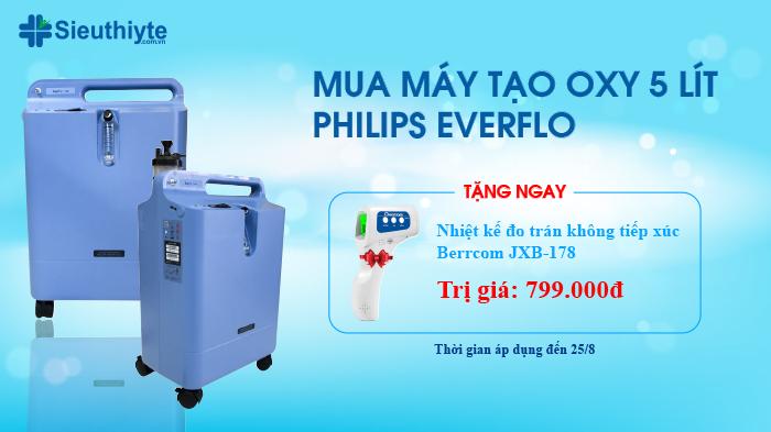 Ưu Đãi Cực Hot: Mua Máy Tạo Oxy Philips Everflo Tặng Ngay Nhiệt Kế 799.000Đ