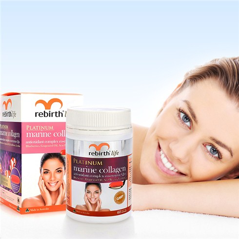 Viên uống Rebirth Platinum Marine Collagen 60v