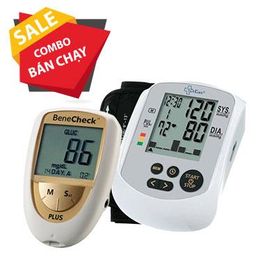 Máy đo đường huyết, mỡ máu, gút BeneCheck - Máy đo huyết áp bắp tay MediKare-DK79