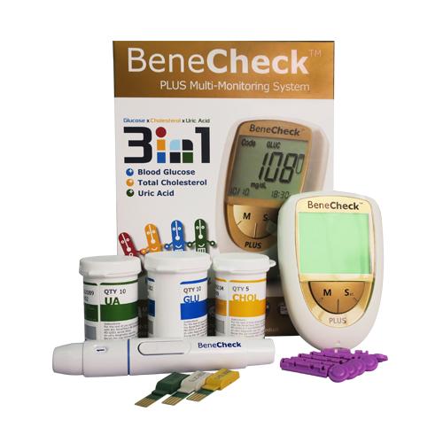 Combo Máy đo đường huyết Benecheck 3in1 - Máy đo huyết áp cổ tay Medistar +
