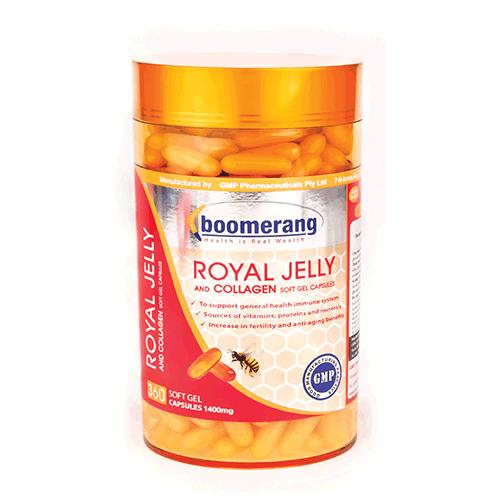 Viên uống sữa ong chúa Royal Collagen Boomerang 360v