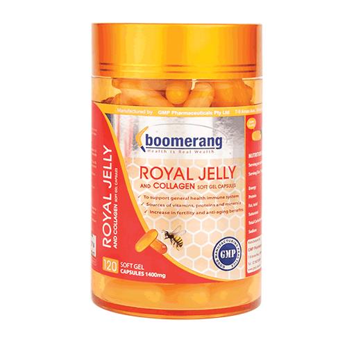 Viên uống sữa ong chúa Royal Collagen Boomerang 120v