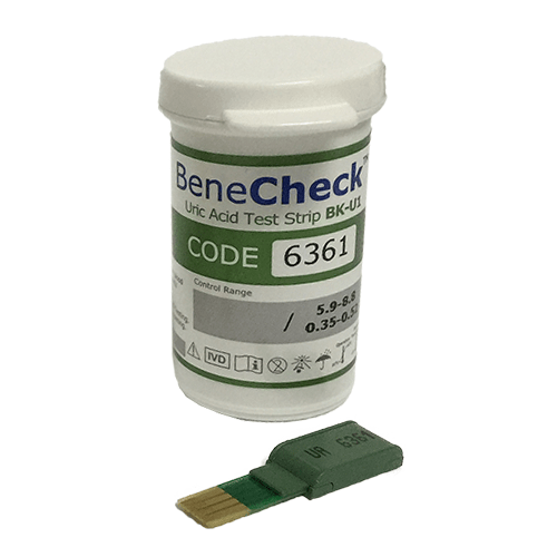 Que thử Acid Uric - Benecheck 3 in 1 (25 que)