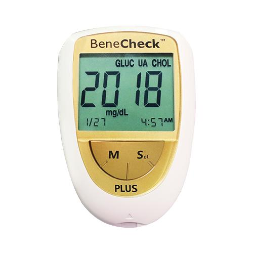 Combo Máy đo đường huyết - mỡ máu - gút BeneCheck & Máy đo huyết áp Wellmed FDBP-A4
