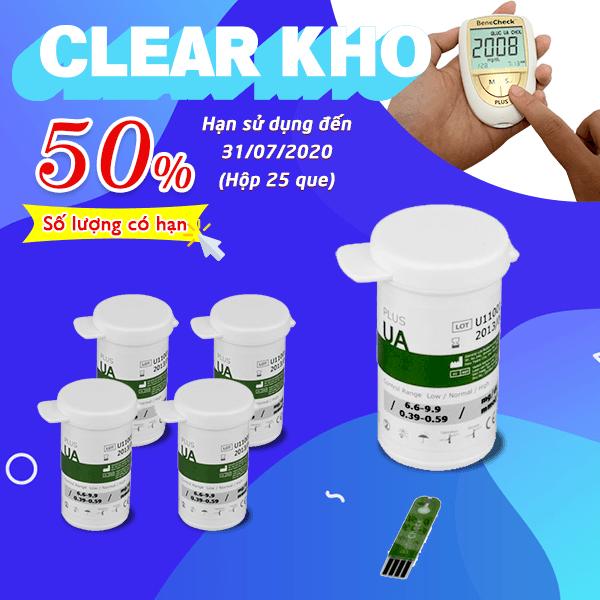 Sale 50% que Acid Uric (Cận date)