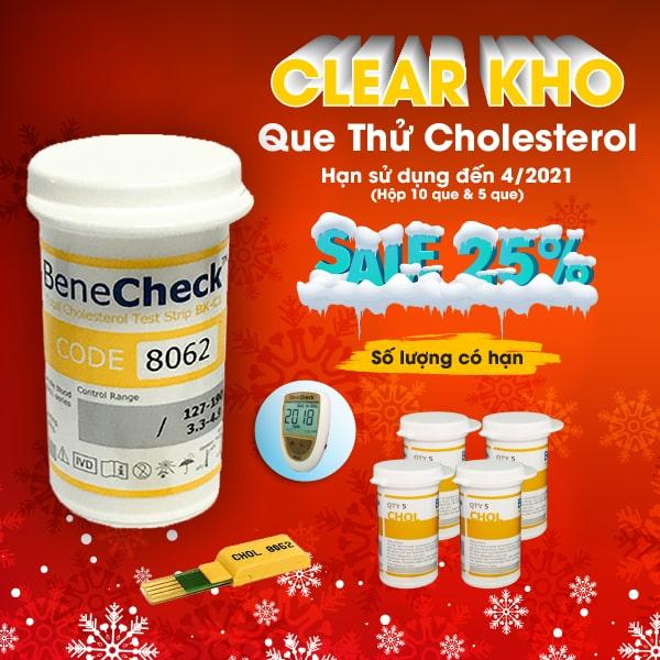Que thử Cholesterol - Benecheck 3 in 1 (10 que)