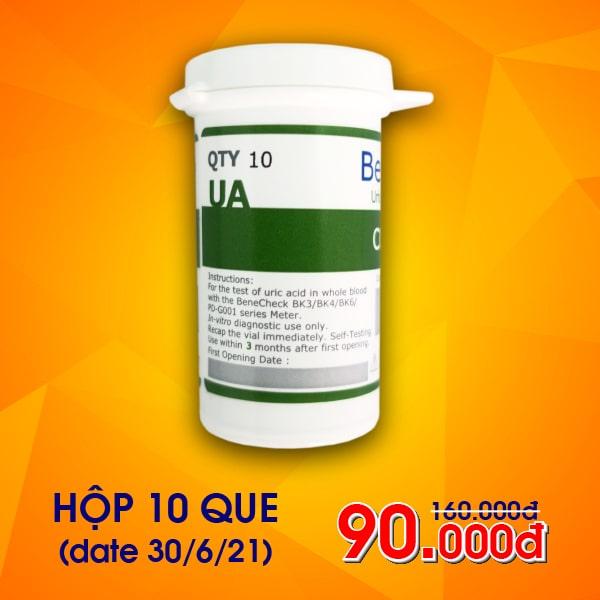 Que thử Acid Uric máy đo Benecheck 3in1 (10 que)