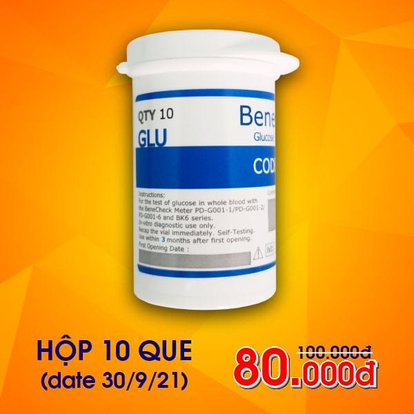 Que thử Glucose máy đo Benecheck 3in1 (10 que)