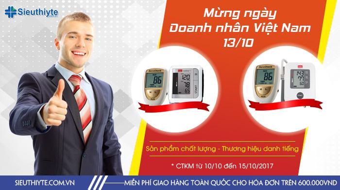 Khuyến mại đặc biệt kỉ niệm 13 năm ngày Doanh Nhân Việt Nam 13/10