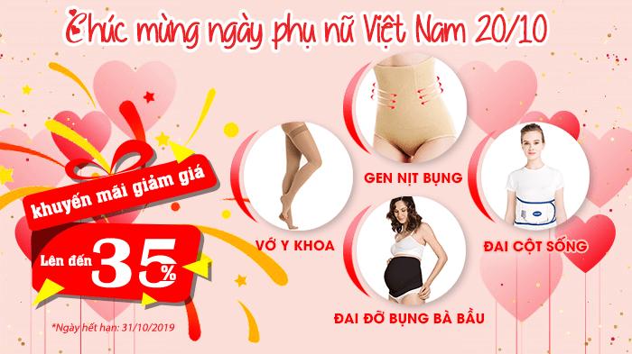 Ưu đãi trọn tháng chào mừng ngày Phụ Nữ Việt Nam 20/10